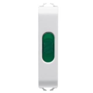 SINGLE INDICATOR LAMP - GREEN - 1/2 MODULE - WHITE - CHORUS