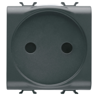 FRENCH STANDARD SOCKET-OUTLET 250V ac - 2P 16A - 2 MODULES - BLACK - CHORUS