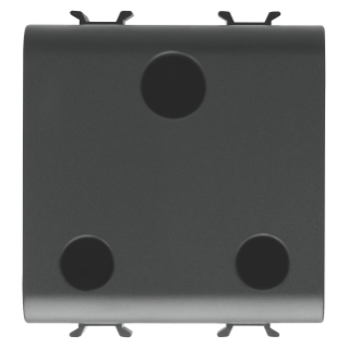INDIAN/SOUTH AFRICAN STANDARD SOCKET-OUTLET 250V ac - 2P+E 16A - 2 MODULES - BLACK - CHORUS