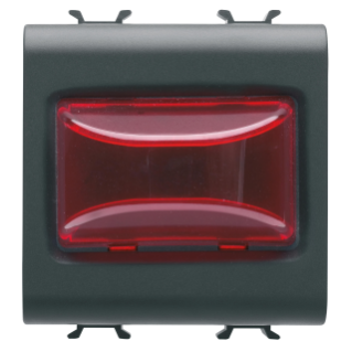 PROTRUDING INDICATOR LAMP - 12V ac/dc / 230V ac 50/60 Hz - RED - 2 MODULES - BLACK - CHORUS