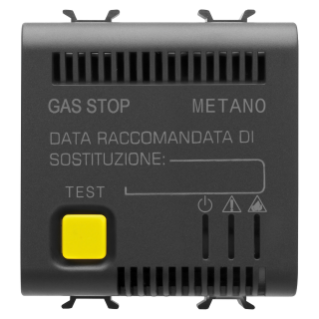 RIVELATORE GAS METANO - 12V ac/dc - 2 MODULI - NERO - CHORUS