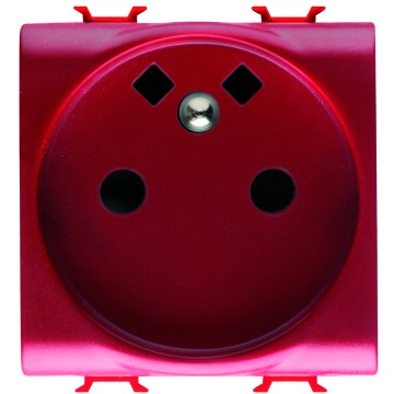 French Standard socket-outlet with front tightening terminals for dedicated lines - 250V ac