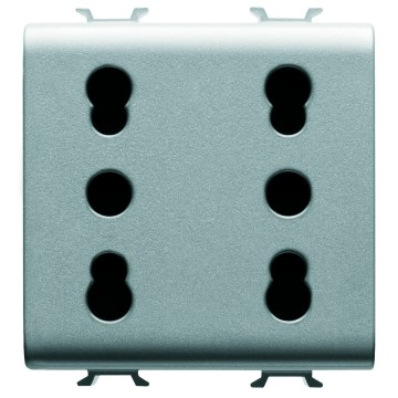 Italian standard double socket-outlet - 250V ac