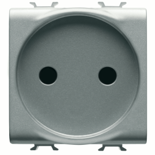 FRENCH STANDARD SOCKET-OUTLET 250V ac - 2P 16A - 2 MODULES - TITANIUM - CHORUS
