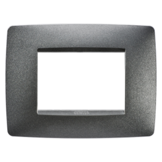 ONE PLATE - IN PAINTED TECHNOPOLYMER - 3 GANG - SLATE - CHORUS