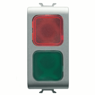 DOUBLE INDICATOR LAMP - RED/GREEN - 1 MODULE - TITANIUM - CHORUS
