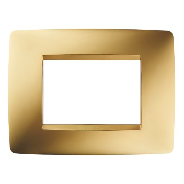ONE PLATE - IN METALLISED TECHNOPOLYMER - 3 GANG - GOLD - CHORUS