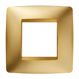 ONE INTERNATIONAL PLATE - IN METALLISED TECHNOPOLYMER - 2 GANG - GOLD - CHORUS
