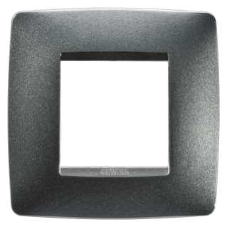 ONE INTERNATIONAL PLATE - IN PAINTED TECHNOPOLYMER - 2 GANG - SLATE - CHORUS