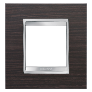 LUX INTERNATIONAL PLATE -.IN TECHNOPOLYMER WOOD FINISHING - 2 GANG - WENGE - CHORUS