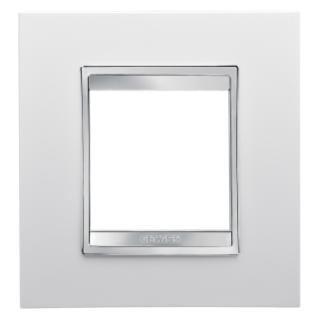 LUX INTERNATIONAL PLATE - IN TECHNOPOLYMER - 2 GANG - MILK WHITE - CHORUS