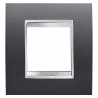 LUX INTERNATIONAL PLATE - IN PAINTED TECHNOPOLYMER - 2 GANG - SLATE - CHIRUS
