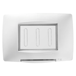 WATERTIGHT PLATE ITALIAN STANDARD - 3 GANG IP55 - WHITE - CHORUS