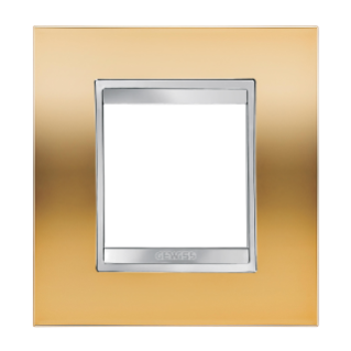 LUX INTERNATIONAL PLATE - IN METALLISED TECHNOPOLYMER -.2 GANG - GOLD - CHORUS