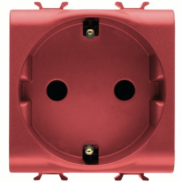 German Standard socket-outlet with front tightening terminals for dedicated lines - 250V ac
