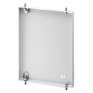 Hinged enclosure doors in metal for assembly of command, signalling and measuring devices - Grey RAL 7035