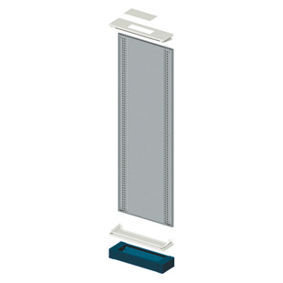 MODULAR SIDE-BY-SIDE FLOOR-MOUNTING STRUCTUR - CVX 630K - 850X2000- BLUE RAL5003