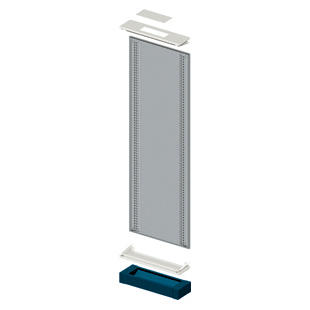 MODULAR SIDE-BY-SIDE FLOOR-MOUNTING STRUCTUR - CVX 630K - 600X1800- BLUE RAL5003