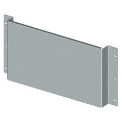 Back-mounting plates for non-modular devices, complete with fixing supports
