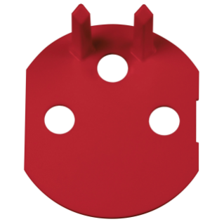 FRENCH SOCKET-OUTLET ACCESSORY, FOR DEDICATED LINES, WITH FRONT TIGHTENING TERMINALS - RED - CHORUS