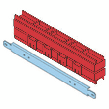 PAIR OF LINEAR BUS-BAR HOLDER- 250-630A 20X5-30X5-30X10MM INSTALLATION ON STRUCTURE BASE B=850 CVX 630M