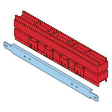 PAIR OF LINEAR BUS-BAR HOLDER - 250-630A 20X5-30X5-30X10MM INSTALLATION ON STRUCTURE BASE B=600 CVX 630M