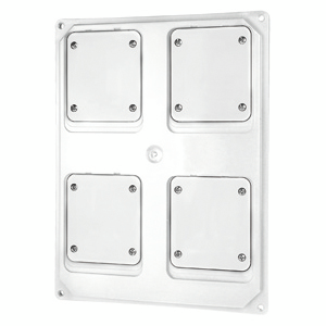 QMC16/63 - FLANGED PANEL - 4 FLUSH MOUNTING FLANGES 16/32A - WHITE