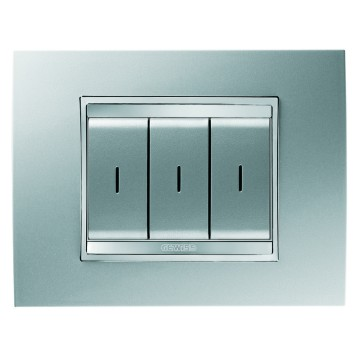RF push-button panels - wall-mounting - LUX plate