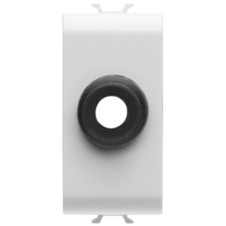 CABLE OUTLET 1 GANG - 1 MODULE - WHITE - CHORUS