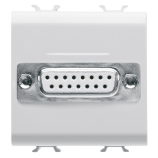 CONNECTOR FOR CONVENTIONAL NETWORKS - SUB-D 15 CONTACTS - CONNECTION WELD-IN - 2 MODULES - WHITE - CHORUS