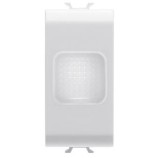 SINGLE INDICATOR LAMP - OPAL - 1 MODULE - WHITE - CHORUS