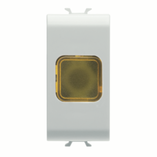 SINGLE INDICATOR LAMP - AMBER - 1 MODULE - WHITE - CHORUS