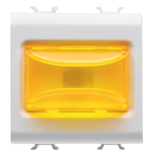 PROTRUDING INDICATOR LAMP - 12V ac/dc / 230V ac 50/60 Hz - AMBER - 2 MODULES - WHITE - CHORUS