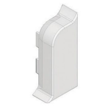 Right end cover for skirting trunking