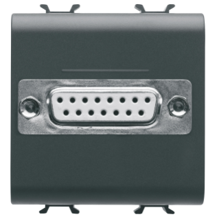 CONNECTOR FOR CONVENTIONAL NETWORKS - SUB-D 15 CONTACTS - CONNECTION WELD-IN - 2 MODULES - BLACK - CHORUS