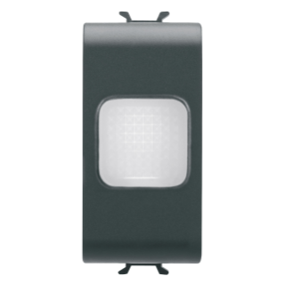 SINGLE INDICATOR LAMP - OPAL - 1 MODULE - BLACK - CHORUS