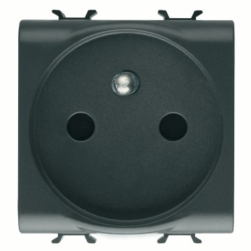 French Standard socket-outlet with front tightening terminals - 250V AC