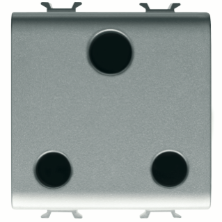 BRITISH STANDARD SOCKET-OUTLET 250V ac - 2P+E 15A - 2 MODULES - TITANIUM - CHORUS