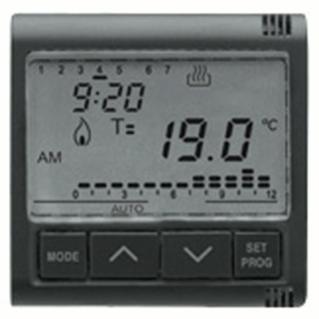 TIMED THERMOSTAT DAILY/WEEKLY - 230V ac - 50/60HZ - 2 MODULES - PLAYBUS