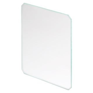TITANO - TEMPERED TRANSPARENT GLASS - FOR FRAME WITHOUT SLOTS