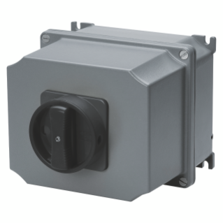 ROTARY CONTROL SWITCH - SURFACE MOUNTING - COMMAND - ATEX - ALLUMINIM BOX - BLACK KNOB - 4P 32A - IP65