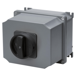 ROTARY CONTROL SWITCH - SURFACE MOUNTING - COMMAND - ATEX - ALLUMINIM BOX - BLACK KNOB - 4P 63A - IP65