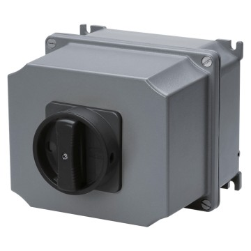 ATEX rotary wall-mounting switches for control, with black knob - IP65