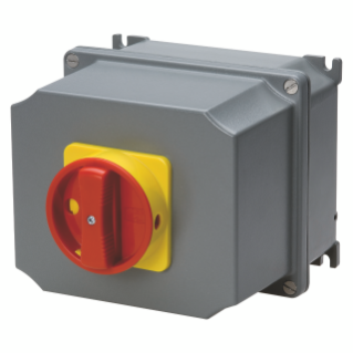 ROTARY CONTROL SWITCH - SURFACE MOUNTING - EMERGENCY VERSION - ATEX - ALLUMINIM BOX - RED KNOB - 2P 16A - IP65