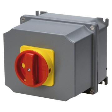 ATEX rotary wall-mounting switches for emergency, with red knob - IP65