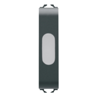 SINGLE INDICATOR LAMP - OPAL - 1/2 MODULE - BLACK - CHORUS