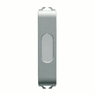 SINGLE INDICATOR LAMP - OPAL - 1/2 MODULE - TITANIUM - CHORUS