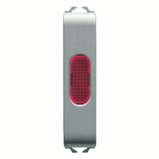 SINGLE INDICATOR LAMP - RED - 1/2 MODULE - TITANIUM - CHORUS