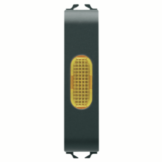 SINGLE INDICATOR LAMP - AMBER - 1/2 MODULE - BLACK - CHORUS
