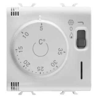 THERMOSTAT - 230V ac 50/60Hz - 2 MODULES - WHITE - CHORUS